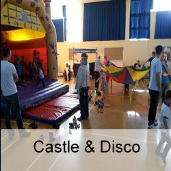 Children's Party Mash up Package. Any Castle and Disco