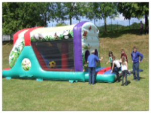 Jungle Fun Run mini obstacle course inc a slide Hire