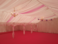 Marquee Linings Pure White Satin or blackout for Our Party Tents and Marquees