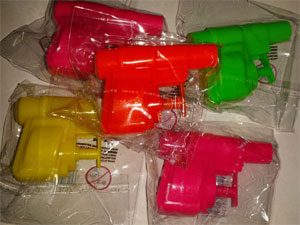 Party Bag Filler mini Water Pistols pk5