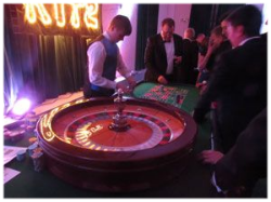 Roulette Table with full size 80cm wheel and operator / cropier